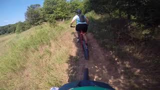 Rory Runs Trail B with Julia and Bucksaw