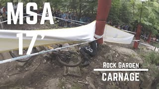 Rock garden carnage from 2017 downhill...