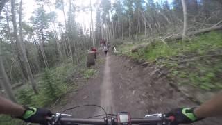 Mountain Biking the new Aspen Alley Trail -...