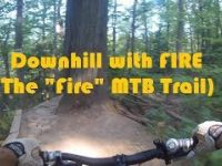 Kelso MTB Rider - Downhill with FIRE