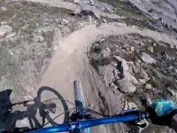 TOP OF THE WORLD, WHISTLER BIKEPARK, CANADA -...