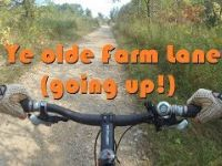 Kelso MTB Rider - Ye olde farm lane (up hill)