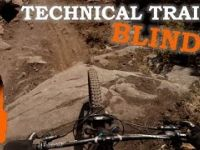 Riding Double Black Diamond Trails Blind