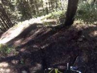 Alain going Downhill on Black Diamond COal Chutes