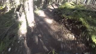 Alain going downhill in Long Road to Ruin Trail