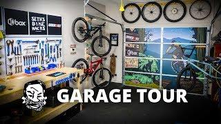 Home Bike Shop Update - Garage door art!