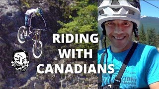 Riding Whistler with Canadians - Jordan...
