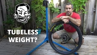 Weighing Tubeless MTB Tires  - Before and After