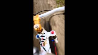 ALain going downhill to Devon Voyageur Park