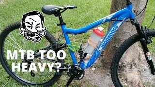 Is your MTB too heavy? Probably not