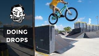 How to do drops on a trials bike - MTB Trials...