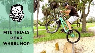 How to rear wheel hop pedal/kick a trials bike...