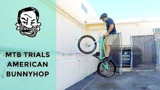 How to American bunnyhop a trials bike - MTB...