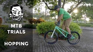 How to English bunnyhop a trials bike - MTB...