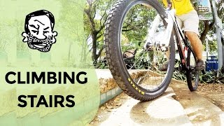 4 ways to climb stairs on a MTB