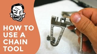 How to repair bike chain links (using a chain...