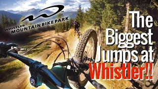 Sending the BIGGEST jumps at Whistler bike...