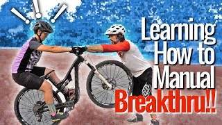 Learning to Manual with Flat Pedals!!! Riding...