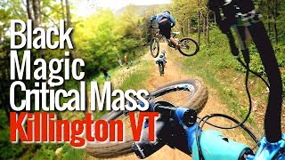 Black Magic jump trail train at Killington...