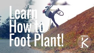How to foot plant on a mountain bike | skills...