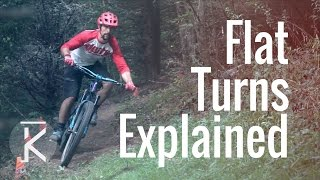 How to ride Flat mountain bike Turns | MTB...