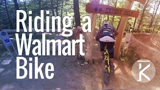 Riding a Walmart Huffy Fat bike down...