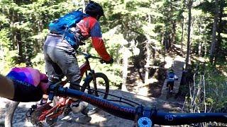 Shredding Whistler Mountain Bike Park's...