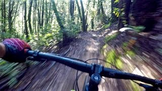 Mountain Biking Skeggs Point in San Mateo...