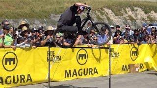 Danny MacAskill tries 122 cm bunny hop at Sea...