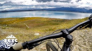 Mountain Biking Near Lake Tekapo, New Zealand,...