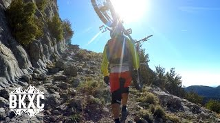 Mountain Biking near Villalangua, Spain, with...