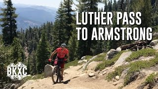 Mountain Biking Luther Pass to Armstrong on...