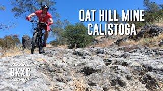 Mountain biking Oat Hill Mine Trail in Calistoga