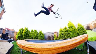 CRAZY BACKYARD TRAMPOLINE BMX!