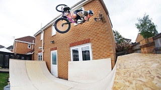 MY FIRST BMX BACKYARD RAMP SESSION!