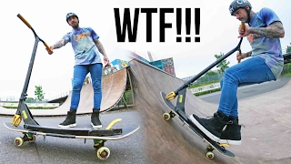 TRICKS ON THE CRAZIEST SCOOTER EVER?!