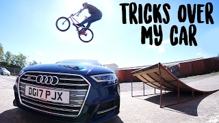 JUMPING OVER MY AUDI!