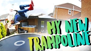 UNBOXING MY NEW BACKYARD TRAMPOLINE!