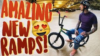 AWESOME NEW BMX SKATEPARK RAMPS!