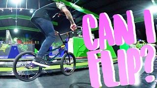 BMX TRAMPOLINE FLIPS!