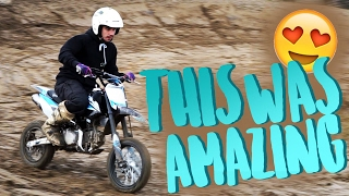 I HAD SO MUCH FUN! *PIT BIKE VIDEO*