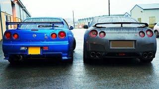 R34 Nissan Skyline GT-R Vs R35 GT-R