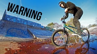 WET BMX SKATEPARK SESSION!