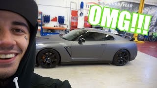 MY NEW CAR!! - NISSAN GTR WRAPPED!! OMG!