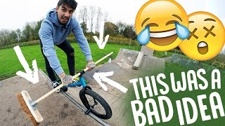 BROOMSTICK HANDLEBARS ON A BMX?!