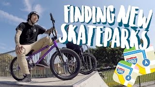 FINDING NEW SKATEPARKS!