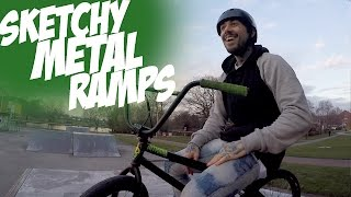 SKETCHY METAL RAMPS | Riding BMX #1