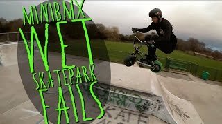 'MINI BIKE MISSIONS' #1 : Wet Skatepark Fails