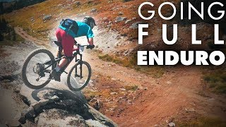 SMASHING BIKES WITH ROCKS | Racing the Enduro...