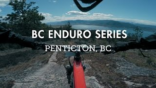 Racing the rocky Stage 5 of the BC Enduro...
